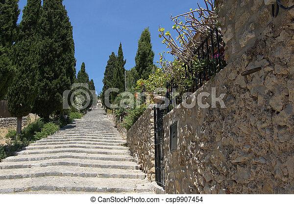 Steps at Pollensa - csp9907454