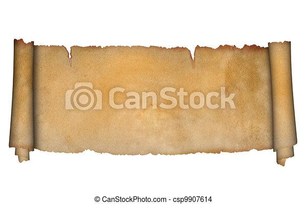 Antique scroll. - csp9907614