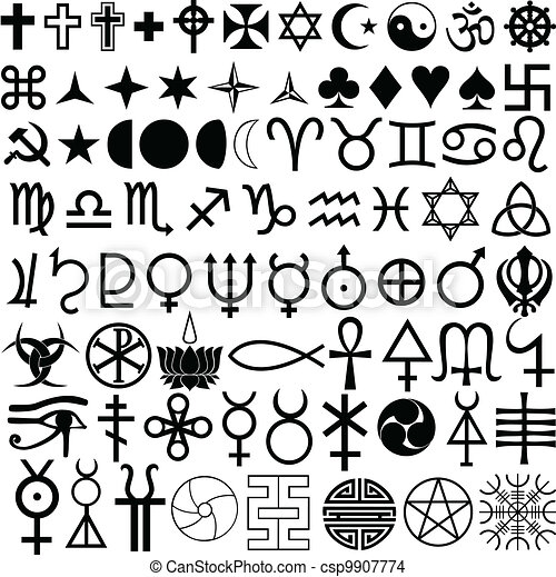 symbols, religion, history - csp9907774