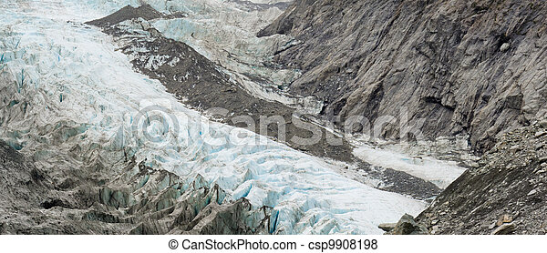 Climate change, melting glacier ice and sheer rock - csp9908198