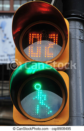 Mexican pedestrian traffic lights - csp9908495