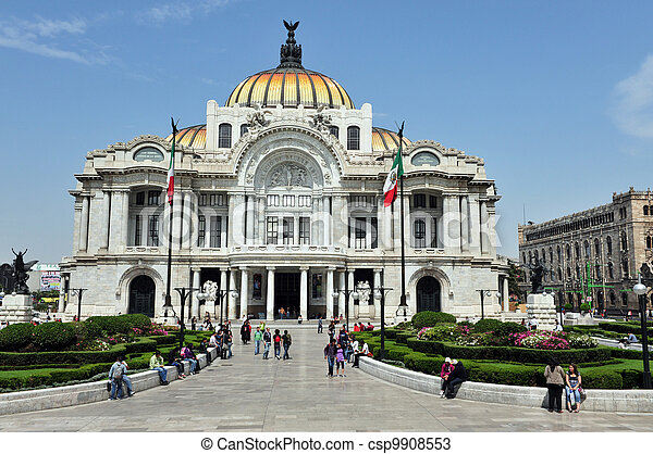 The Fine Arts Palace/Palacio de Bellas Artes - csp9908553