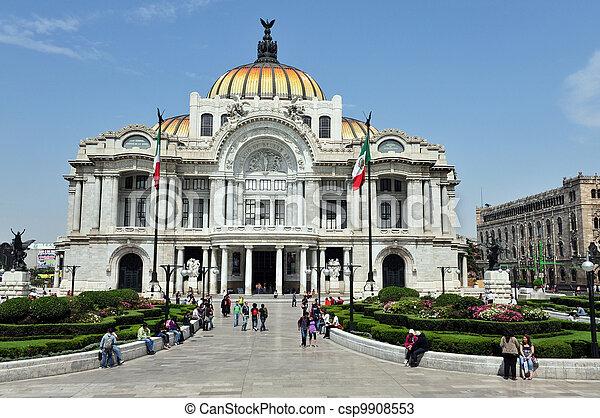 The Fine Arts Palace/Palacio de Bellas Artes  - csp9908553