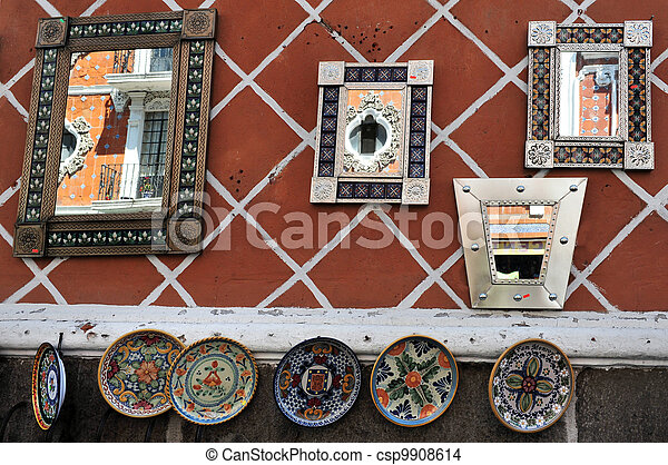 Mirrors in Puebla city streets - csp9908614