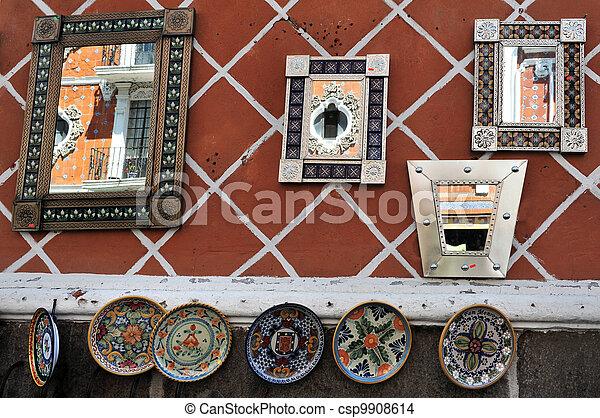 Mirrors in Puebla city streets - csp9908614