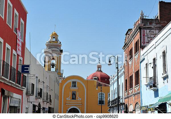 Puebla City Cityscape  - csp9908620
