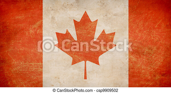 The Maple Leaf flag of Canada - csp9909502