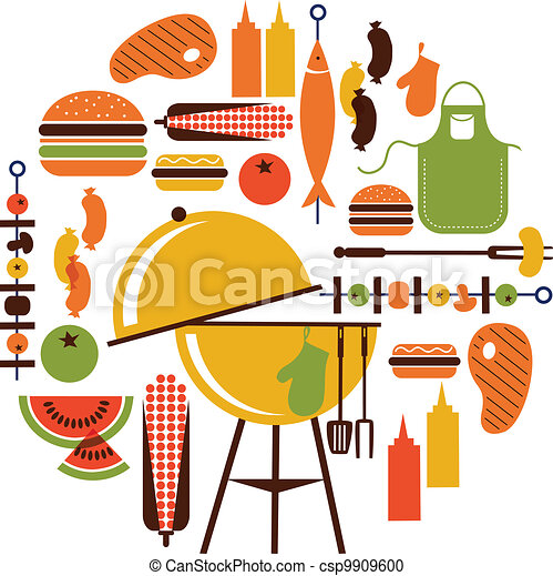 set of bbq objects - csp9909600