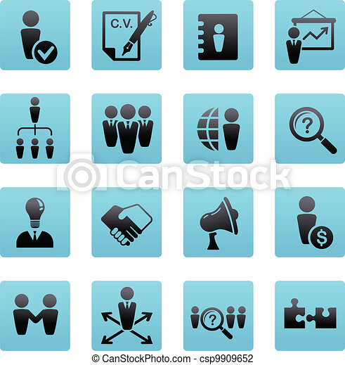 collection of human resources icons - csp9909652