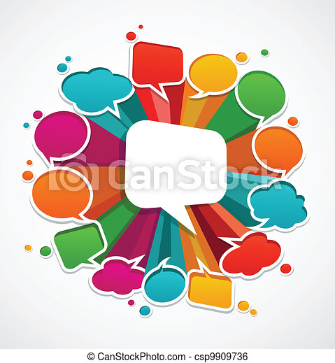 speech bubbles background - csp9909736