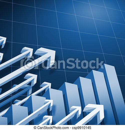 Charts and upward directed arrows - csp9910145