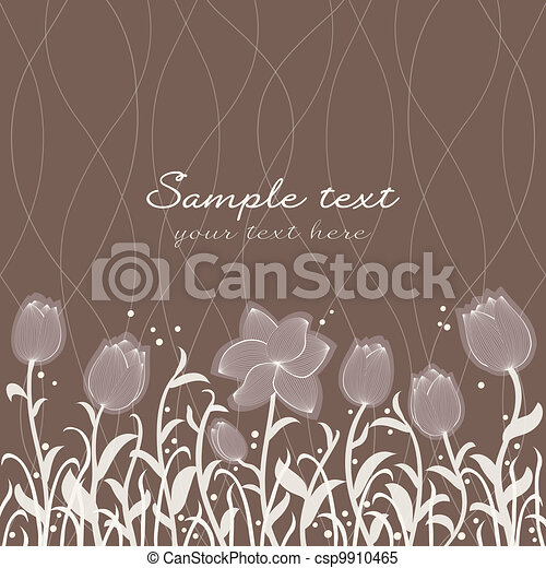 Vector floral invitation pattern - csp9910465