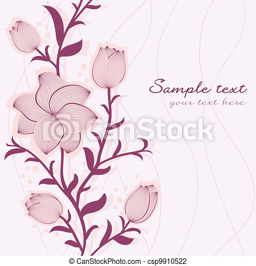 Vector floral seamless pattern - csp9910522