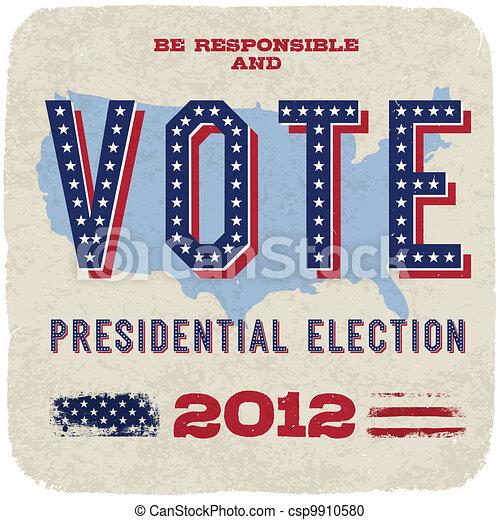 Presidential election 2012. Vector, eps10. - csp9910580