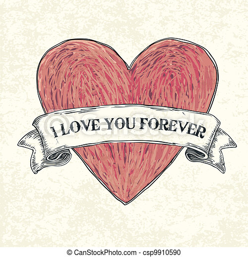 I love you forever. Vector illustration, eps10 - csp9910590