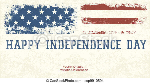 Fourth Of July Patriotic Celebration Background. Vector, EPS10 - csp9910594