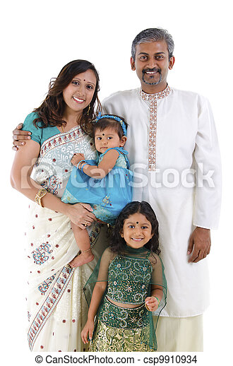 Traditional Indian family - csp9910934