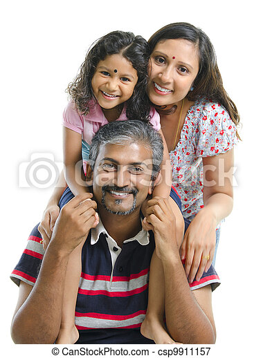 Happy Asian Indian family - csp9911157