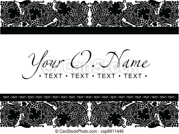 Vector Small Title Frame and Pattern - csp9911446