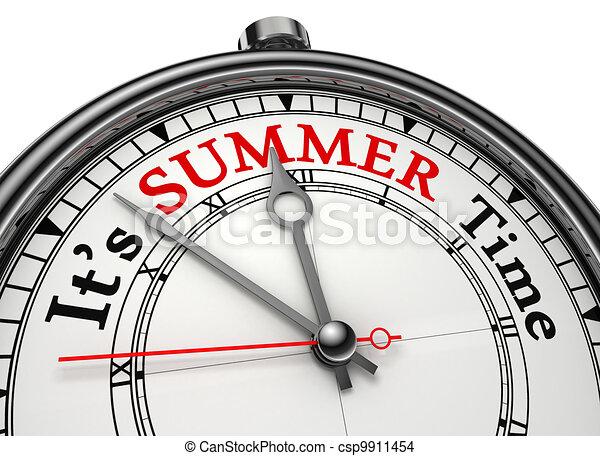 summer time concept clock - csp9911454