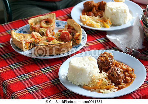 Safari camping food - csp9911781