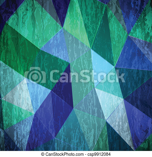 Abstract cyan grunge background. Vector - csp9912084