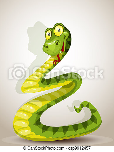Cute snake - csp9912457