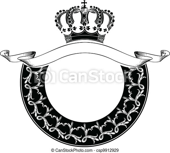 One Color Circle Royal Crown Composition - csp9912929