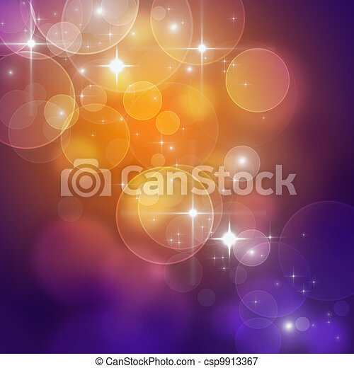 Beautiful abstract background of holiday lights  - csp9913367