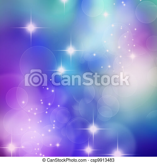 bokeh blurred lights background  - csp9913483