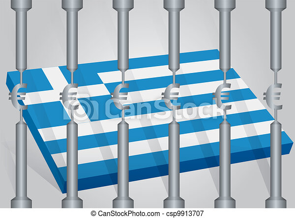 Greece behind the strictness - csp9913707