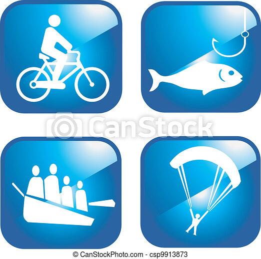 Adventure sport icons - csp9913873