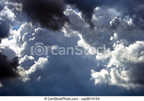 Cumulus clouds before the storm - csp9914154