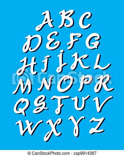 Calligraphy alphabet - csp9914387