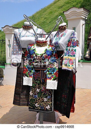 ukranian folk clothing - csp9914668