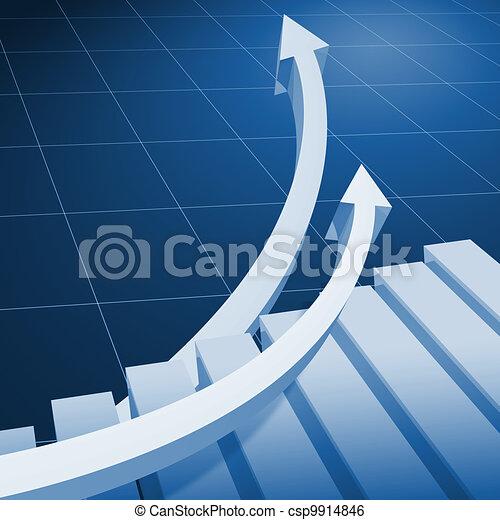 Charts and upward directed arrows - csp9914846