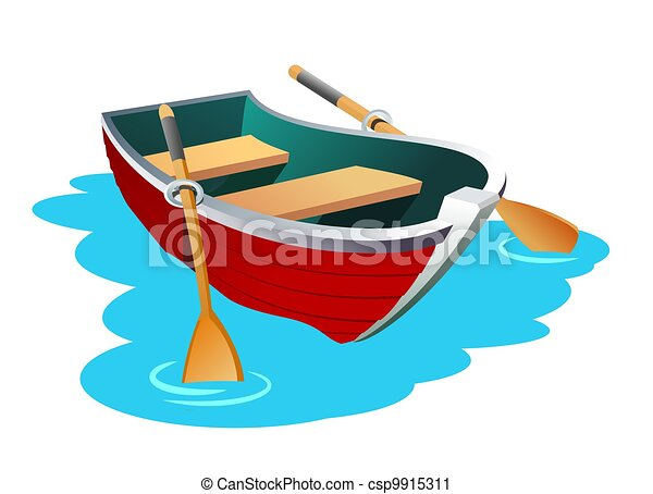 Clipart of Boat - An illustration of small row boat csp9915311 - Search Clip Art, Illustration ...