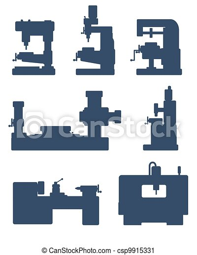 Machine tool icon set - csp9915331