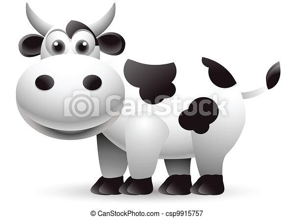 illustration of cow cartoon - csp9915757