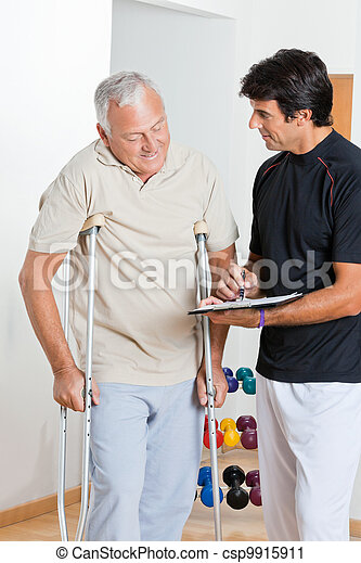 Therapist With Senior Man - csp9915911