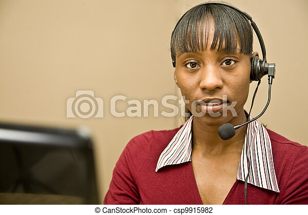 African American Customer Support R - csp9915982