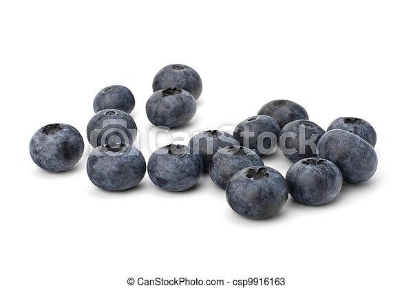 Bilberries or whortleberries cutout  - csp9916163
