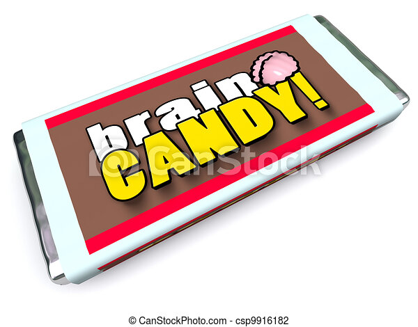 Candy Wrappers Drawing Brain Candy Chocolate Bar