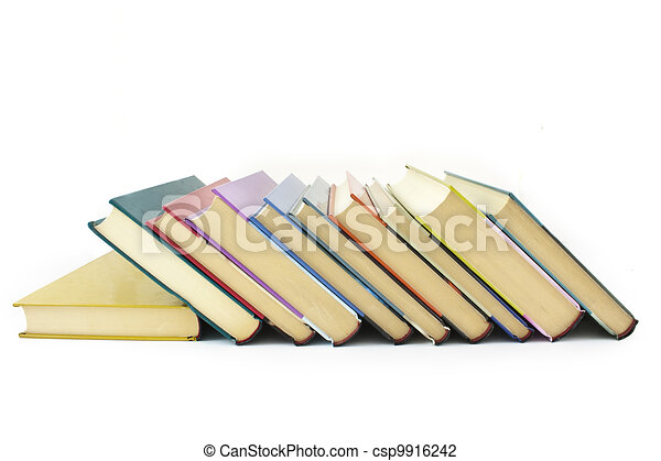 pile of color books - csp9916242