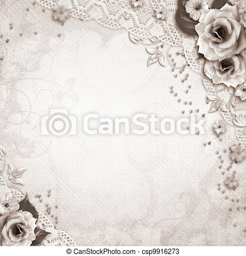 Elegance wedding background - csp9916273