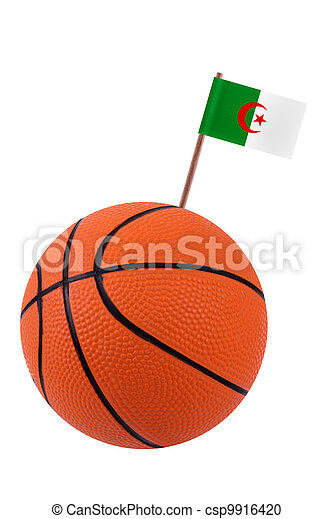 Volley-ball with a national flag - csp9916420