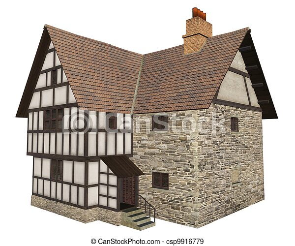 Medieval Country House - 1 - csp9916779