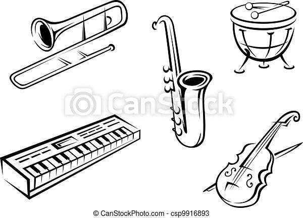 Musical instruments set - csp9916893