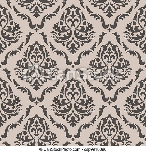 Seamless background in victorian style - csp9916896