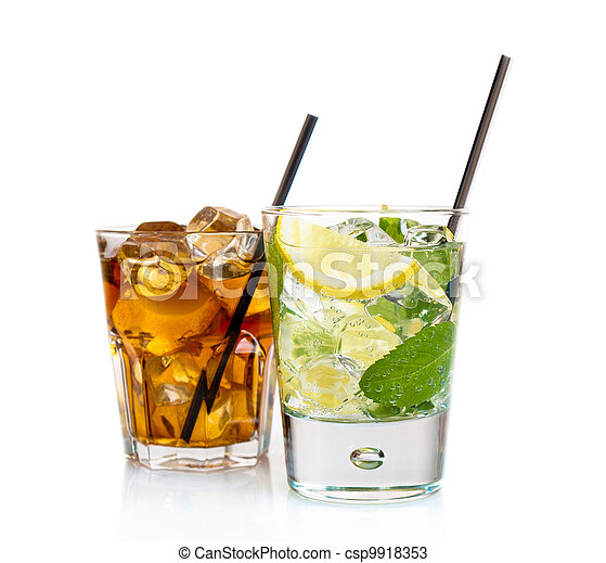 Two refreshing cocktails - csp9918353
